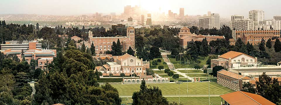 View of UCLA's campus from above