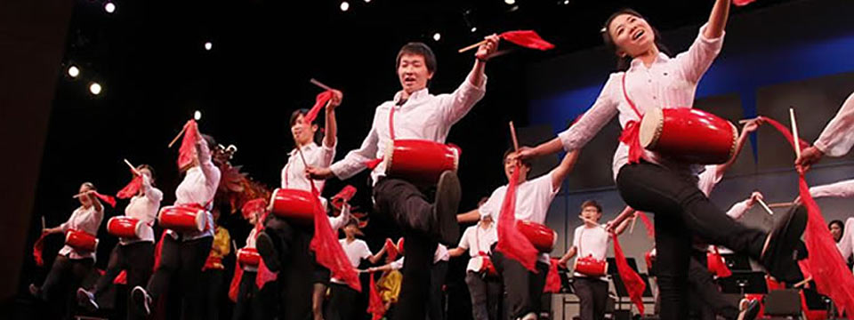 The Music of China Ensemble is in performance