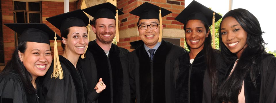 UCLA graduate students at commencement