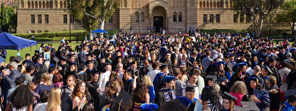 UCLA Doctoral Graduates celebrate during the Doctoral Hooding