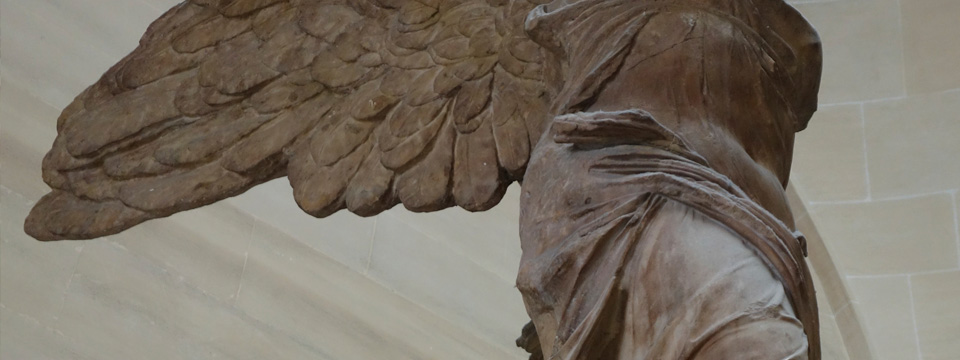 Winged Greek sculpture